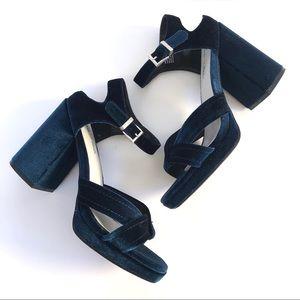 Seven Dials Poliana Velvet Heeled Sandal